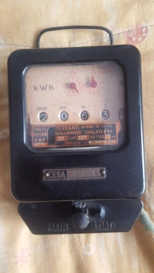 Medidor de luz antiguo de coleccion