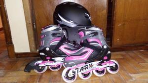 Rollers y casco protector
