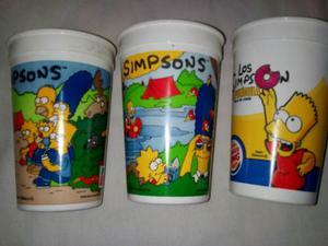 Vasos Plastico Los Simpsons Usados Coleccion Sin Tapa
