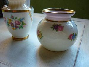 paragon fine bone china lote de dos miniaturas de porcelana