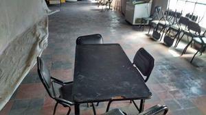vendo sillas y mesa