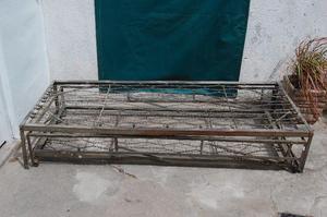 Cama de hierro 1 plaza doble muy fuerte