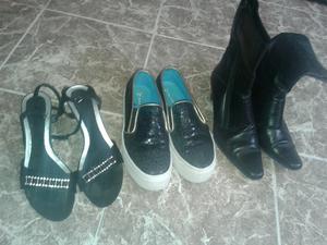 Vendo tres pares de zapatos números 38 en buen estado