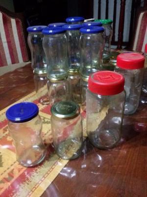 frascos de vidrio usados