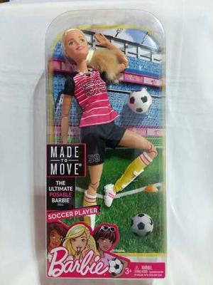 Barbie Made To Move Jugadora De Futbol Original