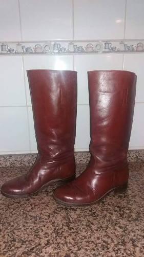 Botas De Montar De Cuero 100% Talle