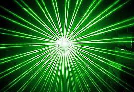 luz laser color verde 30 efectos