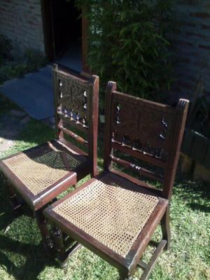 sillas estilo español y provenzal