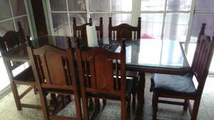 Oprtunidad!!mesa y sillas algarrobo