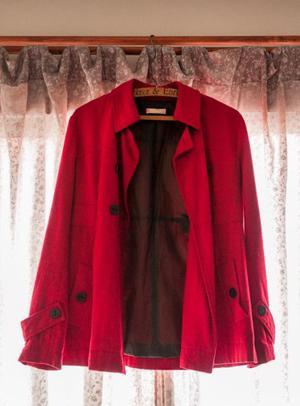 Saco Rojo De Mujer Talle 40