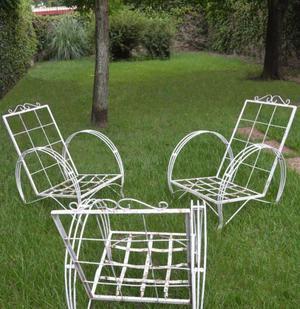 Sillones de hierro para jardín