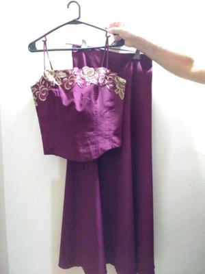 Vendo vestido para fiesta de 2 piezas impecable