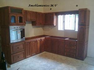 muebles de cocina a medida algarrobo macizo