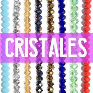Cristales Dona Vidrio Facetado Y Tanza - Ideal Para Pulseras