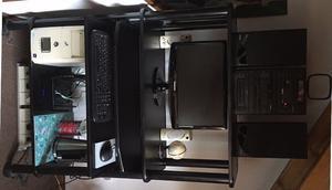 Escritorio Mesa para PC con bandejas extraibles