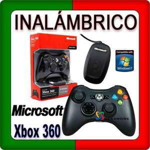 Gamepad Microsoft Xbox 360 Negro Inalámbrico Jr Box