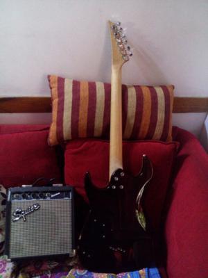 Guitarra washburn y equipo esquire