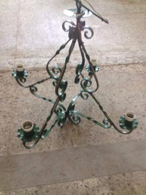 Lámpara Antigua Estilo Provenzal De Hierro