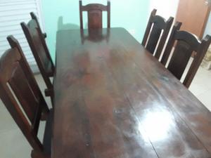 Vendo juego de mesa y sillas de Algarrobo macizo