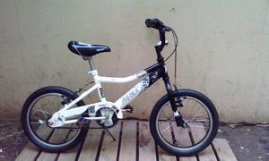 Bicicleta Musetta Blanca Y Negra Rodado 16 Excelente Estado