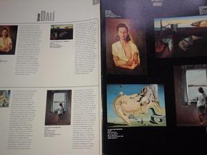 carpeta con 2 laminas de Dali y otra con 2 de Van Gogh
