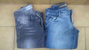 2 Pantalones De Jeans Mujer - Tiro Bajo Talle 36