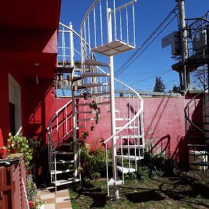 Escaleras caracol de chapa rayada posot class for Escalera caracol medidas
