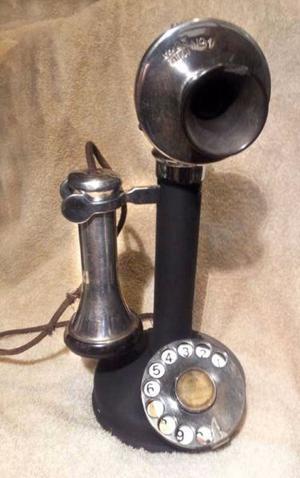 TELEFONO CANDELERO DECORACION $ .-