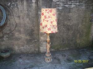 lampara de pie diseño retro ceramica calada