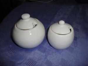 Azucareras Ceramica Blanca, Grande!