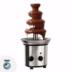Fuente De Chocolate Cascada Acero Inox 45 Cm 4 Pisos Eventos