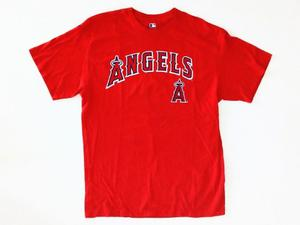 Remera Angels Baseball Manga Corta Talle L Roja.