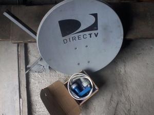 Antena Direct Tv Usada Impecable Completa Con Soporte.