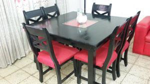 Mesa mas 6 sillas con envio incluido!!
