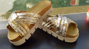 Sandalias con plataforma nuevas talle 40