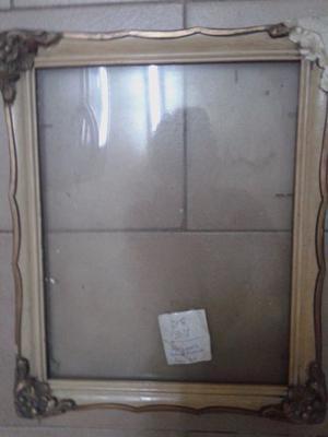 marcos franceses a restaurar 3 +vidrio antiguos 2u=30x35 y