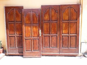 portón en cedro 3 por2