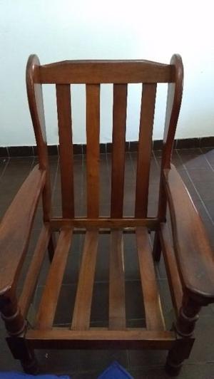 Juego sillones de algarrobo con almohades y mesita