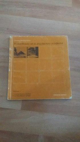 Libro, El Significado En La Arquitectura Occ., C. Norberg -