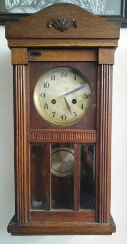 Reloj De Pared Antiguo A Pendulo Doble Cuerda -zona Oeste-
