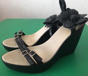 Sandalias negras N 38