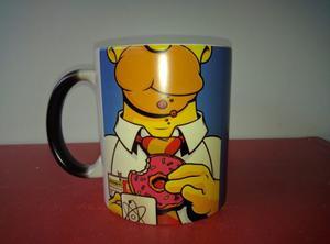 Taza Mágica Los Simpsons Homero Importada En Cajita