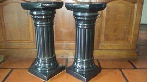 Columnas de ceramica esmaltada