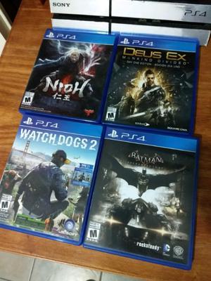 Cuatro juegos de ps4 usados
