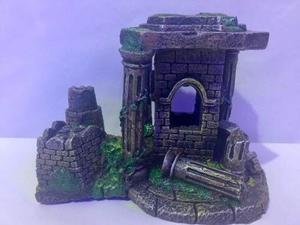 Ruina Griega Grande Decoracion Para Pecera Acuario.