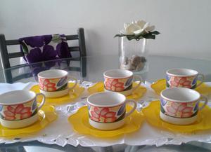 Tazas de té de ceramica