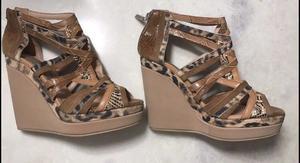 Zapatos color camel y marrón marca claude bernard sin uso