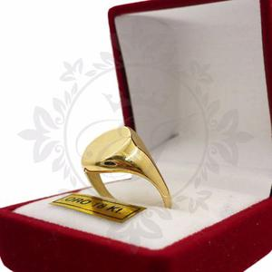 Anillo Sello De Oro 18k Hombre - Mujer 3.6 G Grabado S/cargo
