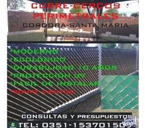 CINTA CUBRE CERCO PERIMETRAL -EXCELENTE DISEÑO
