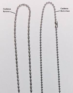 Cadena De Acero Quirúrgico Bolitas/ Arroz / Varias 60 Cm